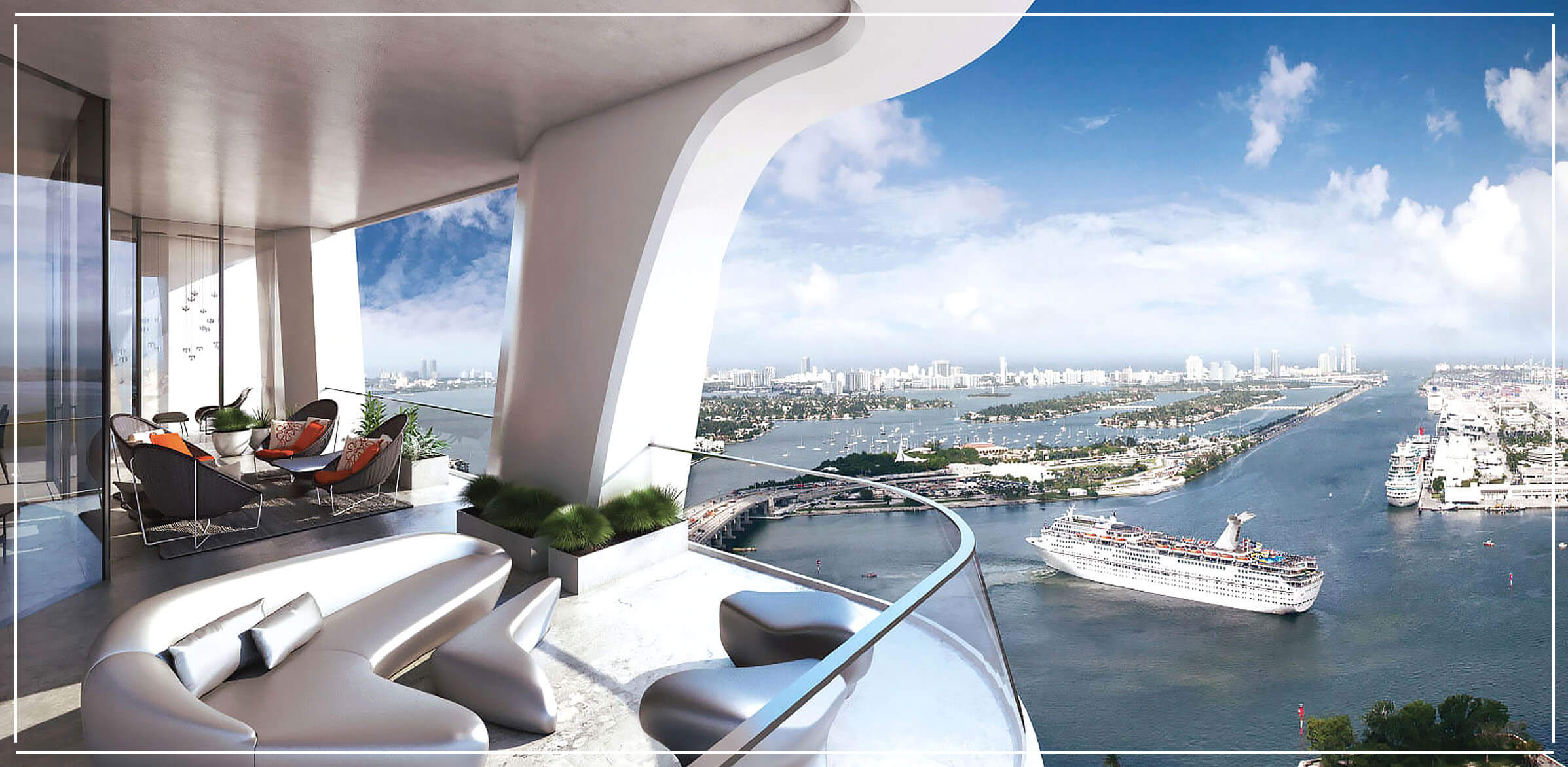 1000 Museum Penthouses for Sale in Miami