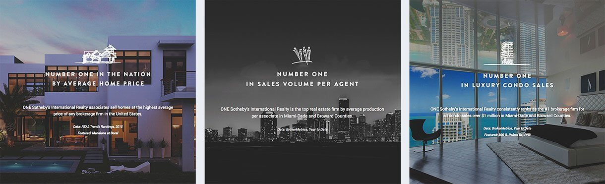 Number One: Average Home Price, Sales Volume per Agent, Luxury Condo Sale